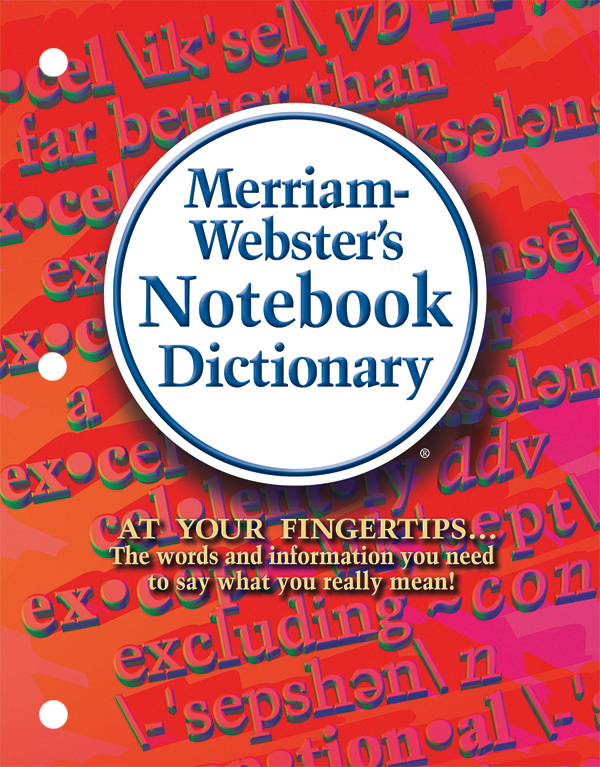 merriam-webster's notebook dictionary book cover