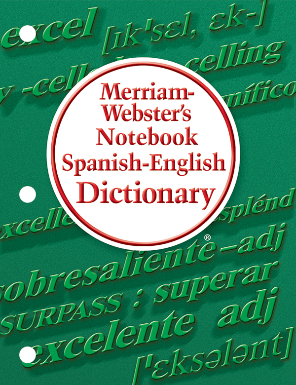 merriam-webster's notebook spanish-english dictionary book cover