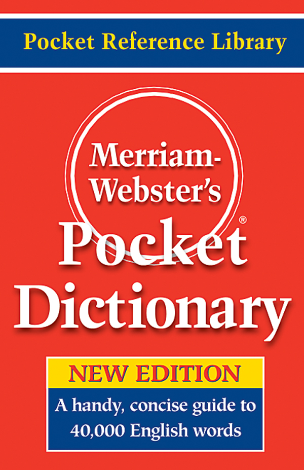 merriam-webster's pocket dictionary book cover
