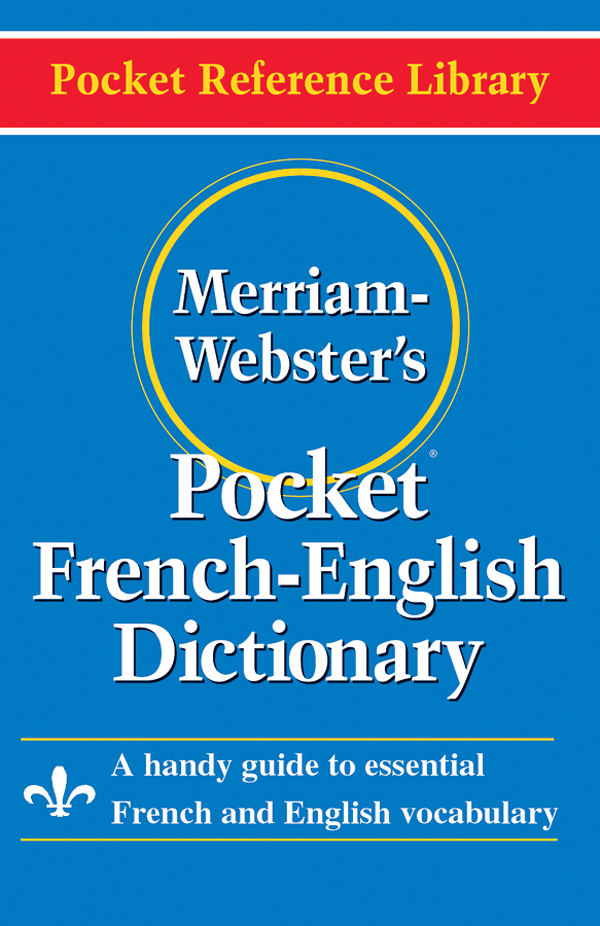 merriam-webster's pocket french-english dictionary book cover