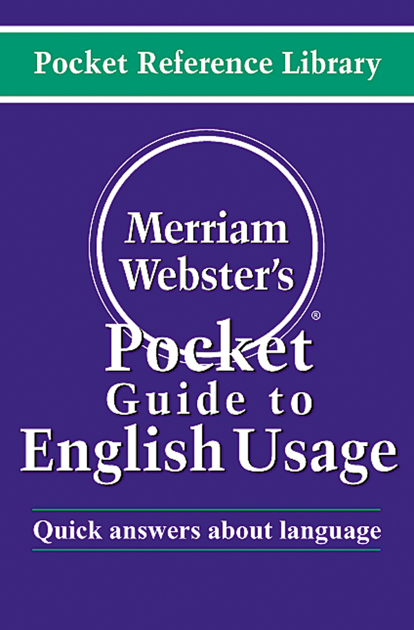 merriam-webster's pocket guide to english usage book cover