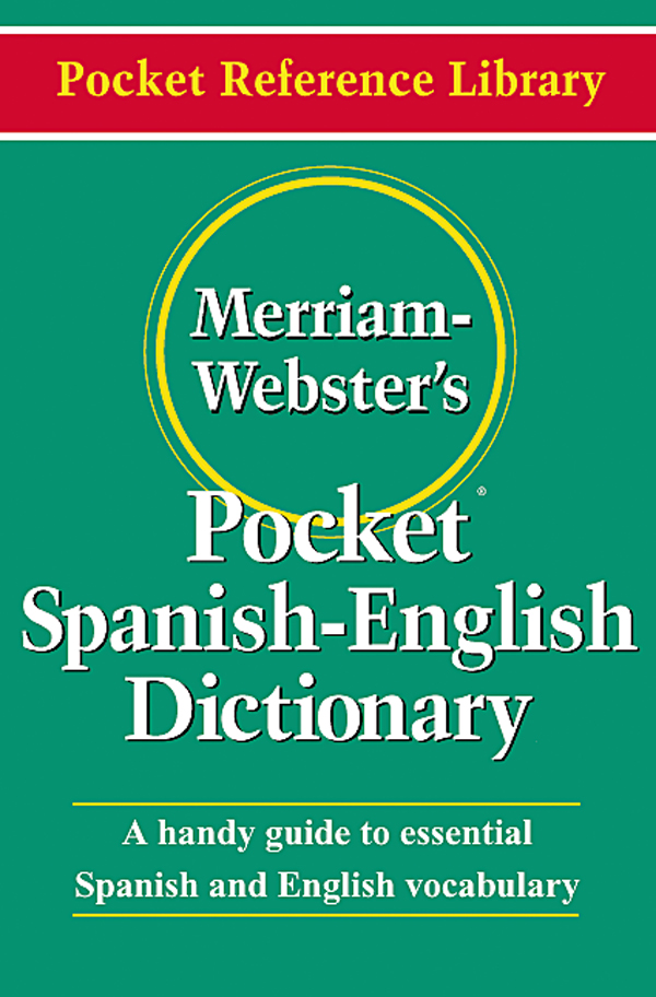 merriam-webster's pocket spanish-english dictionary book cover