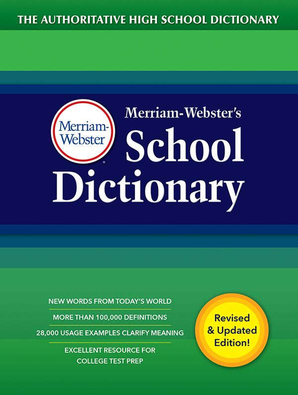 merriam-webster's school dictionary book cover
