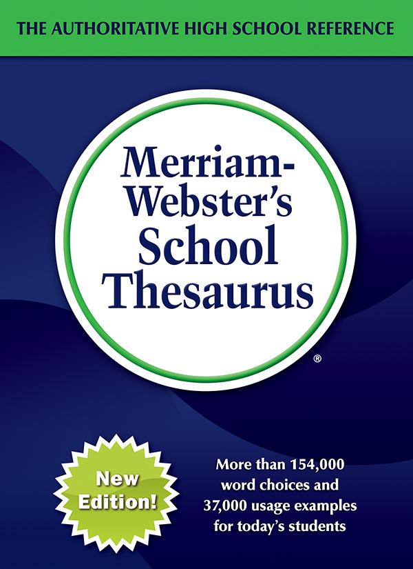 merriam-webster's school thesaurus book cover