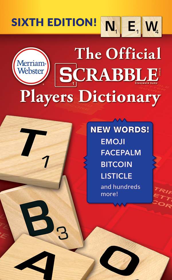 the official scrabble players dictionary, sixth edition, mass-market paperback book cover
