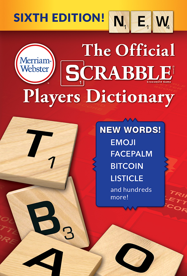 the official scrabble players dictionary, sixth edition book cover