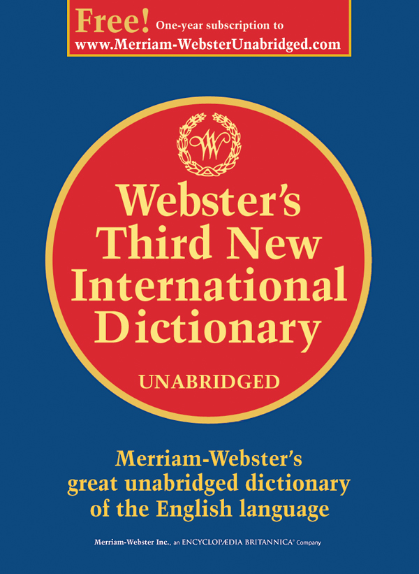 webster third new international dictionary online free