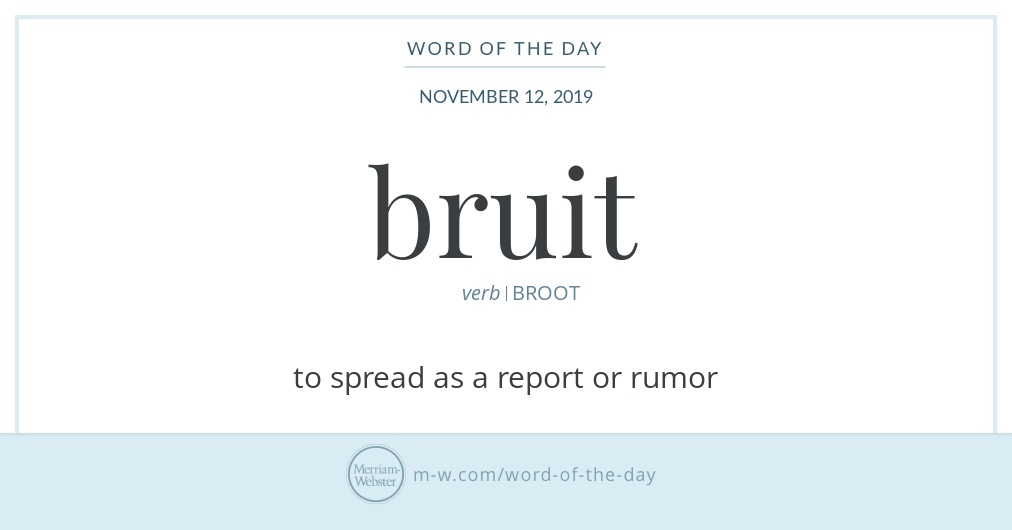 Word of the Day: Bruit