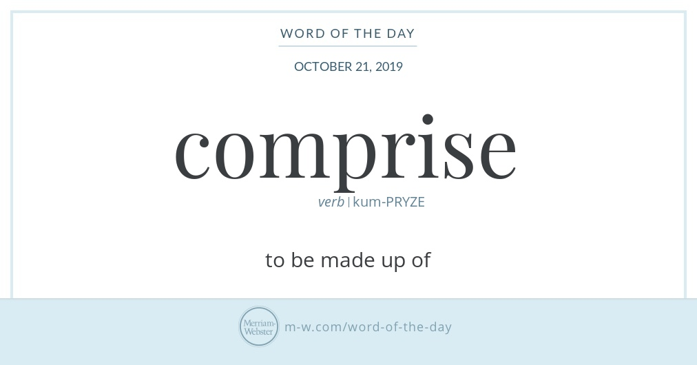 Word of the Day: Comprise