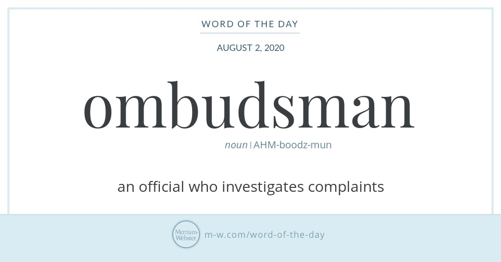 Word of the Day: Ombudsman