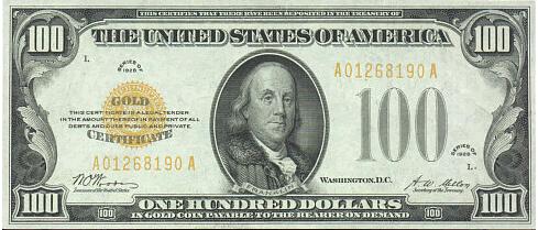 U.S. Treasury gold certificate